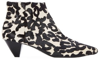 Mercedes Castillo Julienne Animal-Print Calf Hair Ankle Boots