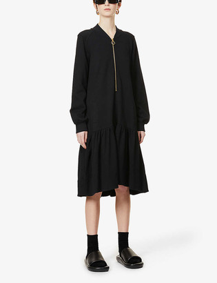 Me And Em Relaxed-fit cotton-jersey midi dress