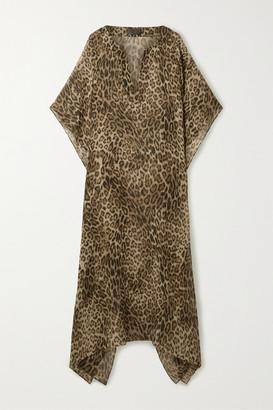 Nili Lotan Erica Leopard-print Silk Crepe De Chine Kaftan - Leopard print