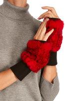 annabelle Real Rabbit Fur & Knit Fingerless Gloves