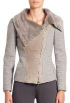 Armani Collezioni Shearling Combo Jacket