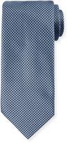 Brioni Two-Tone Woven Silk Tie, Blue