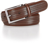 Daniel Cremieux Herringbone Embossed Leather Belt