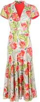 Badgley Mischka Floral Belted Shirt Dress