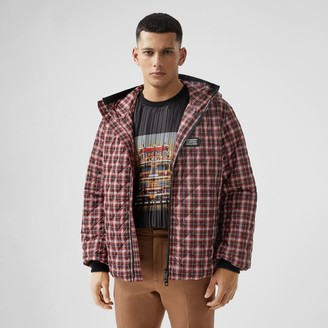 Burberry Diamond Quilted Check Hooded Jacket