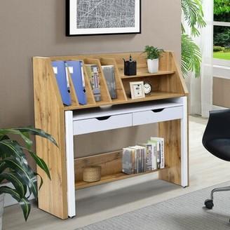 Latitude Run Arbaj Desk with Hutch