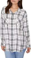 Sanctuary New Generation Plaid Boyfriend Shirt (Plus Size)