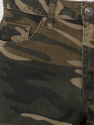 Very Mom Denim Short - Camouflage Print