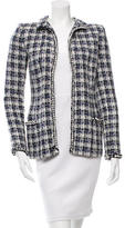 Oscar de la Renta Patterned Open Front Jacket