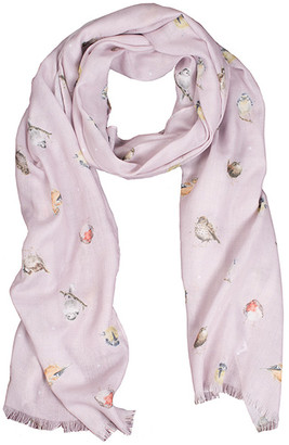Wrendale Designs By Hannah Dale Wrendale Designs by Hannah Dale Accent Scarves - Pink Garden Birds Scarf