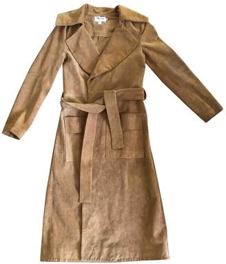 Frame Camel Leather Coat for Women