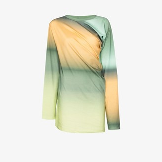 Y/Project twisted front ombre cotton T-shirt
