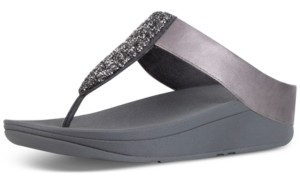 FitFlop Women's Sparkle Crystal Thong Sandals Women's Shoes
