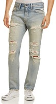 Levi's 505C Slim-Straight Fit Distressed Jeans in Light Blue
