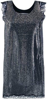 Philosophy di Lorenzo Serafini Studded Lace Trim Shift Dress
