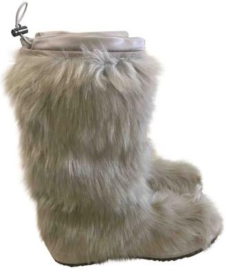 Prada Ecru Faux fur Boots