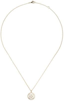 De Beers 18kt yellow gold Enchanted Lotus diamond openwork pendant