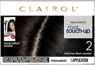Clairol Root Touch-Up Permanent Hair Dye Long-lasting Intensifying Colour with Full Coverage 30ml (Various Shades) - 2 Black