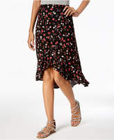 One Hart Juniors' Printed High-Low Skirt, Created for Macy's