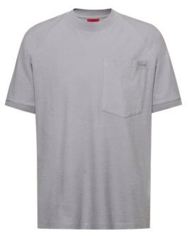 Oversized-fit T-shirt in cotton jersey with raglan sleeves