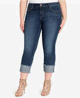 Jessica Simpson Trendy Plus Size Forever Cuffed Jeans