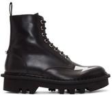 Neil Barrett Black Thunderbolt Military Boots
