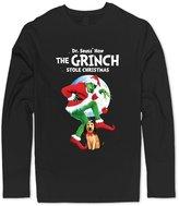 DRUN 100% Cotton Men's Dr.Seuss How The Grinch Stole Christmas Film Shirts