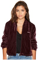 Obey Sabre Velvet Bomber Jacket Women's Coat