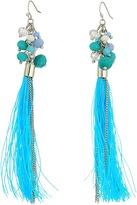 GUESS Cluster Bead Drop with Tassel Earrings Earring