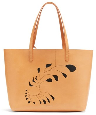 Mansur Gavriel X Calder Large Leather Tote Bag - Beige Multi