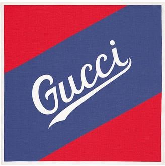 Gucci script print scarf