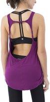 Queenie Ke Womens Prime Yoga Sport Tank Top Vest Super Soft Cowl Back Size XS Color