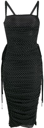 Dolce & Gabbana Polka Dot Midi-Dress
