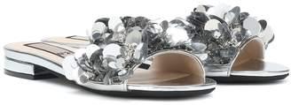 N°21 Embellished leather sandals