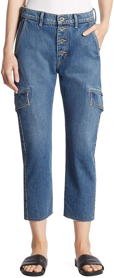 Vince Women's Drop Slouch Cargo Jeans