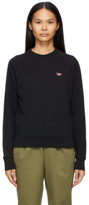 MAISON KITSUNÉ Black Tricolor Fox Patch Sweatshirt