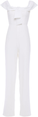 Jay Godfrey Tie-front Stretch-cady Jumpsuit