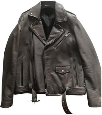 IRO Grey Leather Jackets