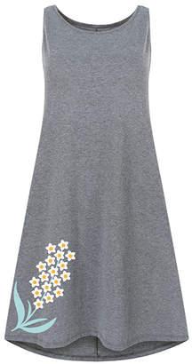 Instant Message Women's Women's Casual Dresses HEATHER - Heather Gray Tiny White Flowers Shift Dress - Women