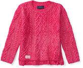 Ralph Lauren Aran-Knit Cotton-Blend Sweater