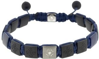 Shamballa Jewels 18kt black gold Lock onyx and diamond bracelet