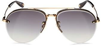 Givenchy Women's Brow Bar Aviator Sunglasses, 62mm