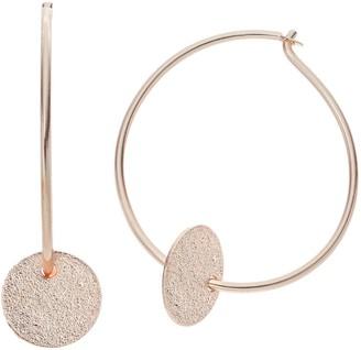 Lauren Conrad Glittery Disc Nickel Free Hoop Earrings