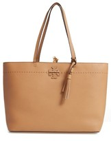 Tory Burch Mcgraw Leather Tote - Beige