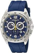 Jorg Gray Men's Quartz Watch with Blue Dial Chronograph Display and Blue Silicone Strap JG8400-21