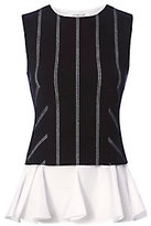 Derek Lam 10 Crosby 2 in 1 Pinstripe Peplum Top