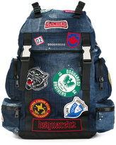 DSQUARED2 Akira patch detail backpack - men - Cotton/Polyester - One Size
