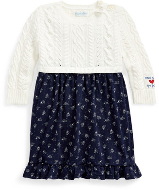Ralph Lauren Floral-Skirt Jumper Dress