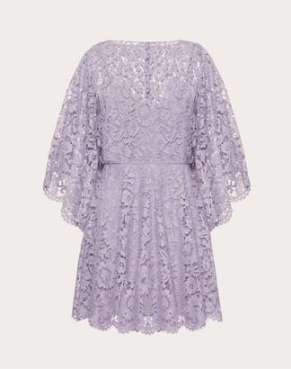 Valentino Kaftan Dress In Heavy Lace Women Lavander Cotton 34%, Viscose 43% 38