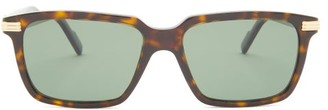 Cartier C Decor Rectangular Acetate Sunglasses - Green